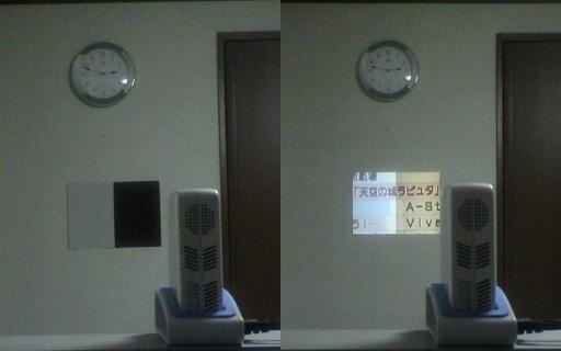 再帰性反射材をスクリーンとして使用